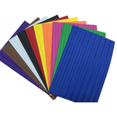 Feuilles de Caoutchouc Mousse Vague 10/sac, couleurs assorties