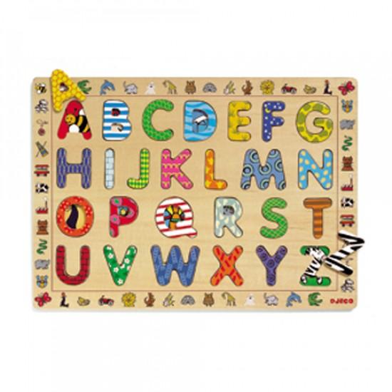 Casse-tête de bois: alphabet en image / 26 morceaux