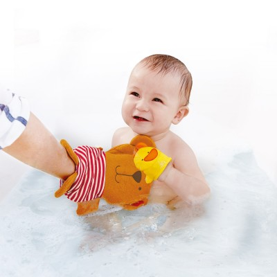 Mitaine pour le bain: Teddy et canard