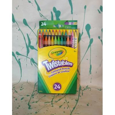 Ensemble de crayons de couleur twist : 24