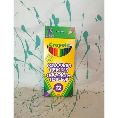 Ensemble de crayons de couleur en bois : 12