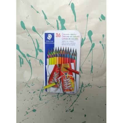 Ensemble de crayons de couleur en bois: 36