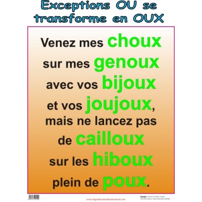 "Affiche: Les exception en ""ou"""
