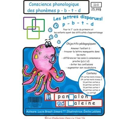 Lettres disparues : Les phonèmes P-B-T-D