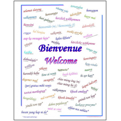 Affiche : Bienvenue (multilingue)