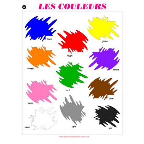 Affiche : Les couleurs