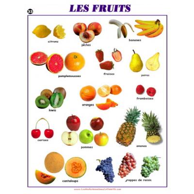 Affiche : Les fruits
