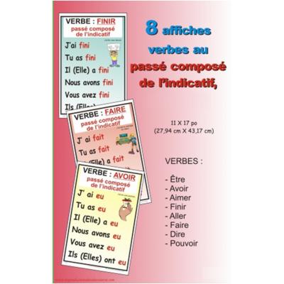 Affiches verbe : Passé composé de l'indicatif