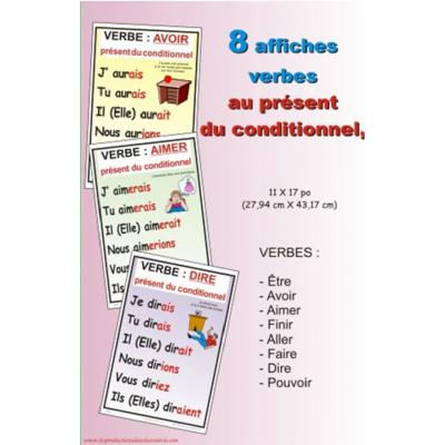 Affiches verbes : Présent du conditionnel