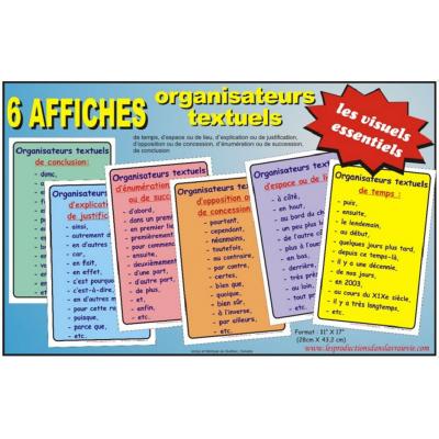 Ensemble d'affiches : Organisateurs textuels
