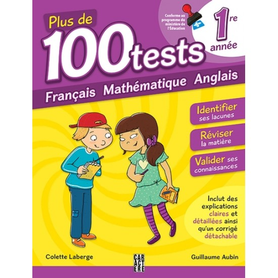 Plus de 100 tests: 1re année