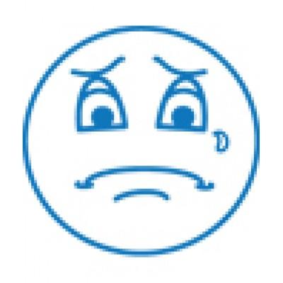 Estampe pré-encrée: Bonhomme triste