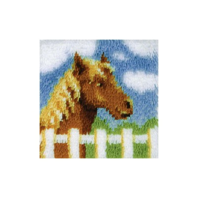 Crochet - Poney 30x30cm