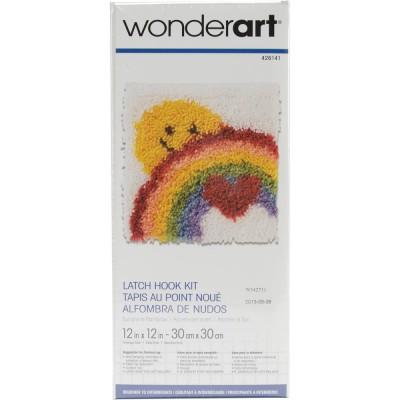 Crochet - Arc-en-ciel et Soleil 30x30cm