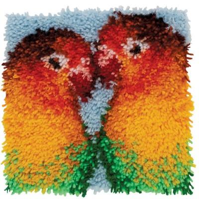 Crochet - Inséparables 30x30cm