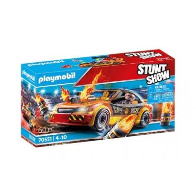 Playmobil - StuntShow Voiture crash test avec mannequin #70551