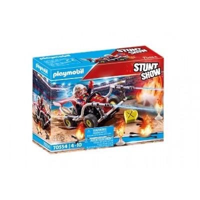 Playmobil - Stuntshow Véhicule et pompier #70554