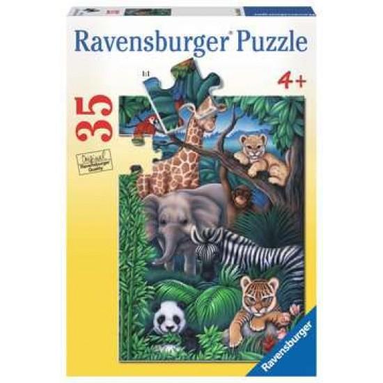 Casse-tête 35 morceaux: Royaume animal