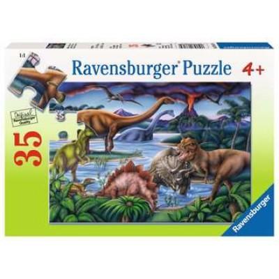 Casse-tête 35 morceaux: jardin de dinosaures