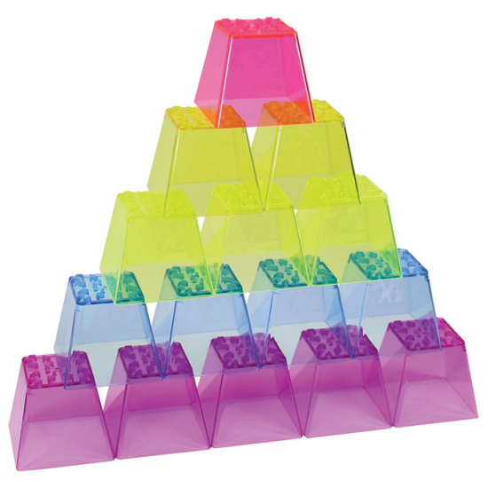 Blocs de couleur cristal à empiler