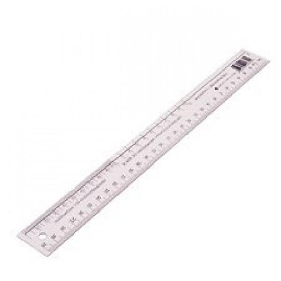 Règle Plastique Flexible Transparente 30 cm (avec dm)