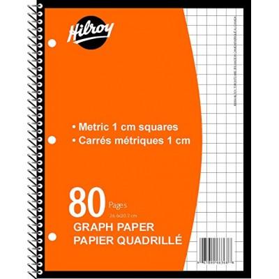 Cahier Quadrillé Spiral: Métrique 80 pages
