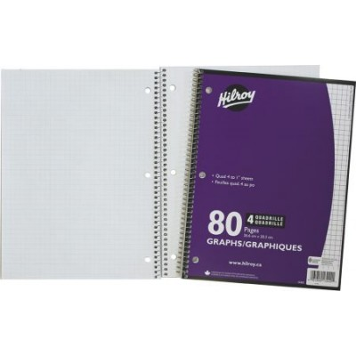 Cahier Quadrillé (Graphique) 4:1 pouce 80 pages