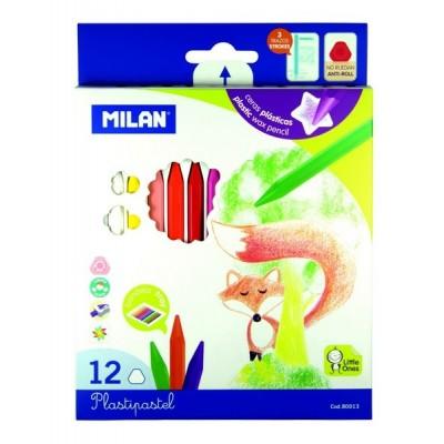 Ensemble de Crayons de Cire Milan: 12