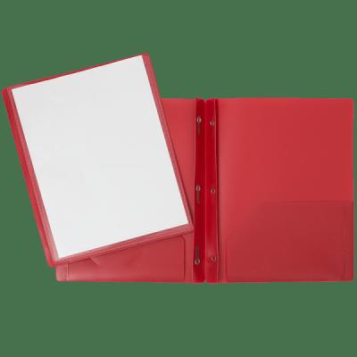 Portfolios Plastique avec attaches et pochettes