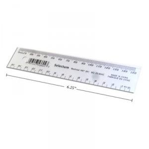 Règle de plastique transparente Selectum - 15cm