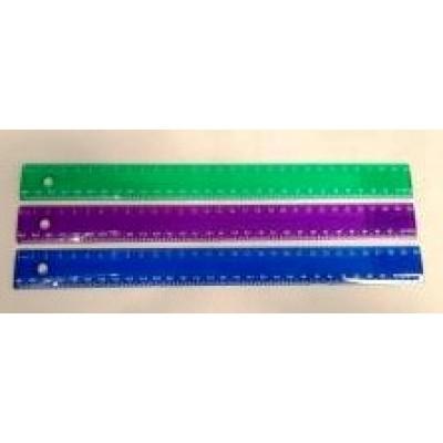Règle de plastique transparente et rigide 30cm