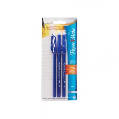Stylo Effaçable Eraser Mate - 3 bleu
