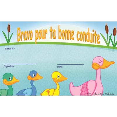 Certificat: Bonne Conduite - Canard