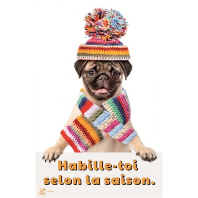 Affiche: Habille-toi selon la saison