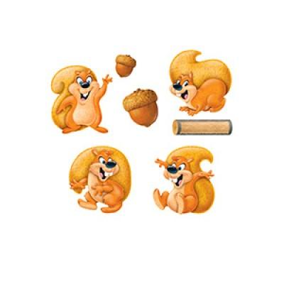 Décoration: Écureuils drôles