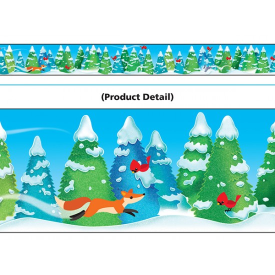Bordure décorative: merveilles d'hiver