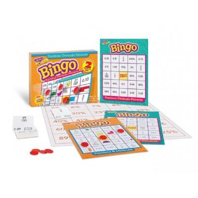 Bingo: Fractions, Pourcentage et Décimales