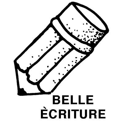 Estampe jumbo: belle écriture