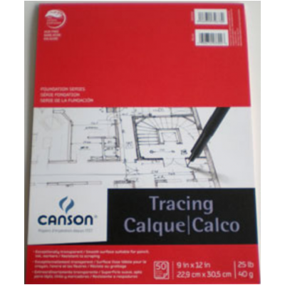 "Papier Calque : 9x12"""