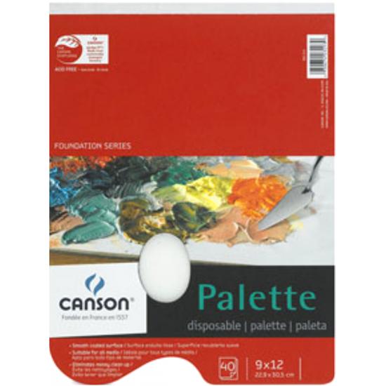 """Palette de papier pour mélange de peinture : 9x12"""""""