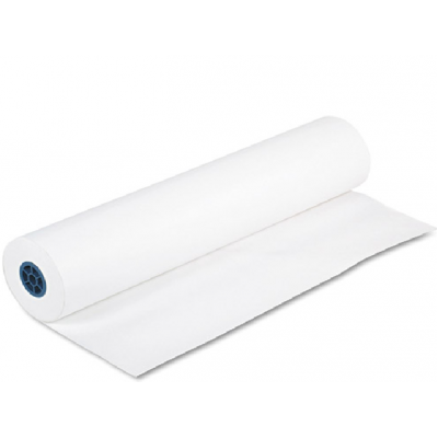 """Rouleau papier kraft blanc : 18""""x750'"""