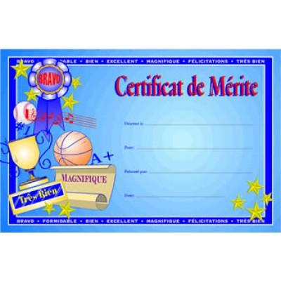 Certificats : Certificat de Mérite