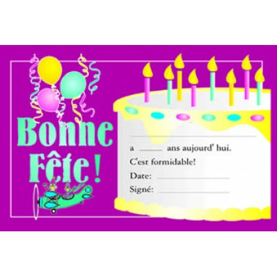 Certificats : Bonne Fête!