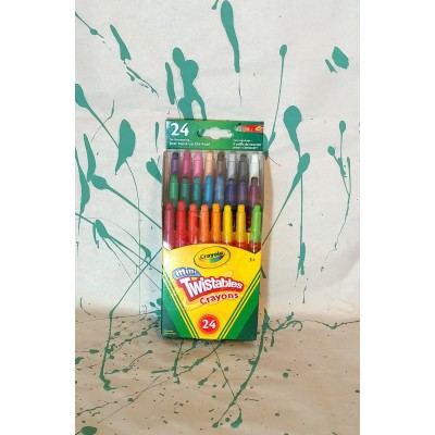 Ensemble de crayons de cire de type twist: 24