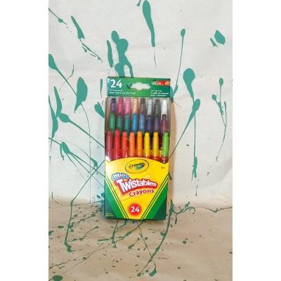 Ensemble de crayons de cire de type twist: 24
