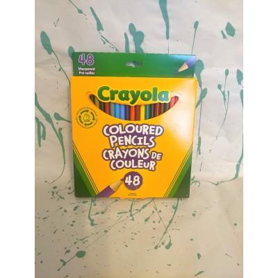 Ensemble de crayons de couleur en bois : 48