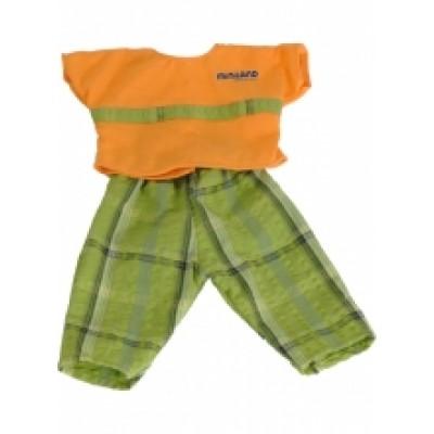 Vêtements pour poupées (ensemble chandail orange et pentalons)