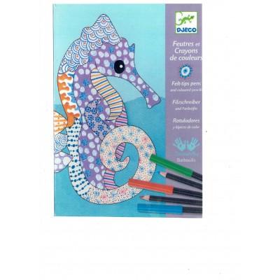 Feutres pinceau et crayons (plusieurs modèles variés)