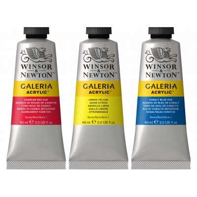 Acrylique galeria 60ml série 1 ( 52 couleurs )