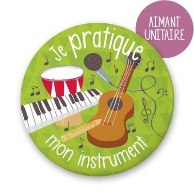 Aimant individuel - Je pratique mon instrument de musique